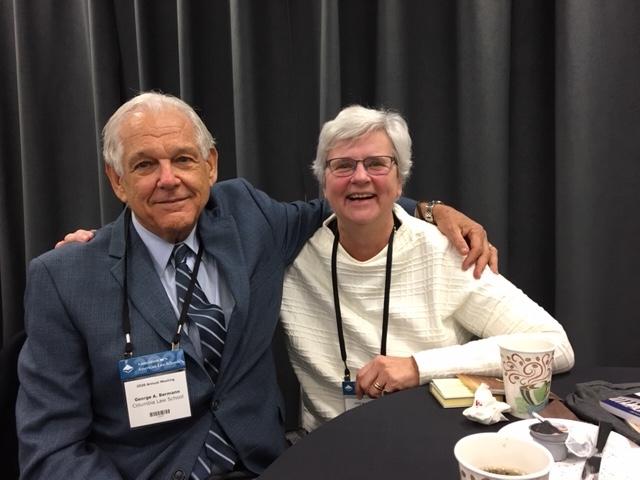La Présidente de l'AIDC Katharina Boele-Woelki et l'ancien Président de l'AIDC George A Bermann au 2020 AALS Annual Meeting à Washington